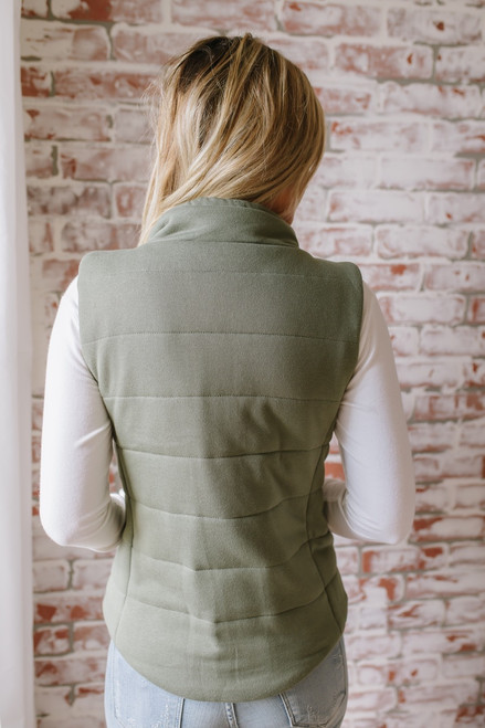 Fall Traditions Quilted Vest - Olive