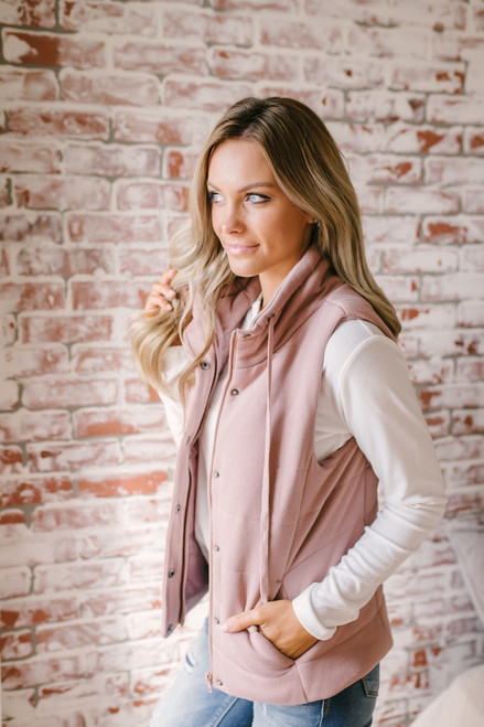 Fall Traditions Quilted Vest - Mauve - FINAL SALE
