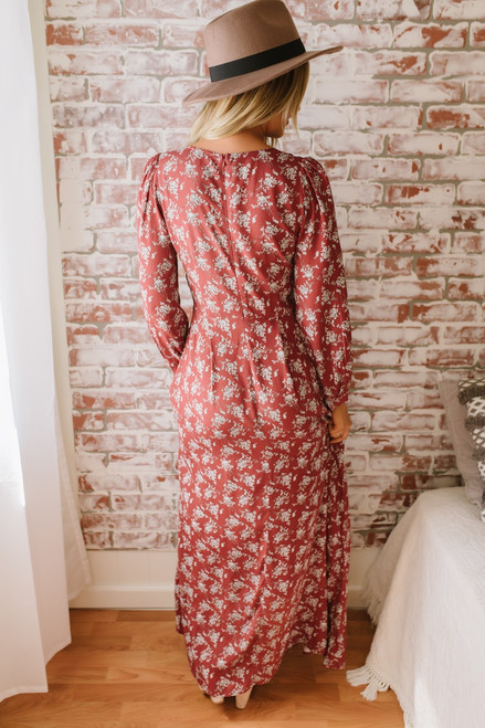 Autumn in New England Floral Maxi - Brick Multi - FINAL SALE