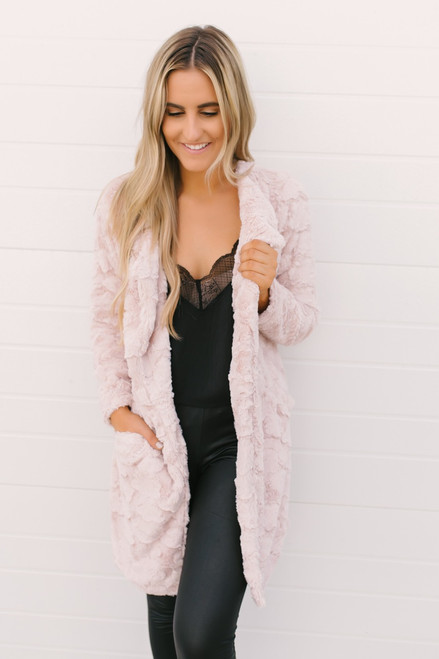Manor on the Hill Wubby Jacket - Blush  - FINAL SALE