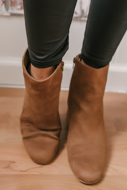Chinese Laundry Daria Suede Booties - Tan  - FINAL SALE