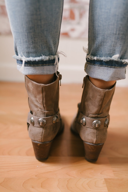 Coconuts by Matisse: Grazie Western Booties - Taupe  - FINAL SALE