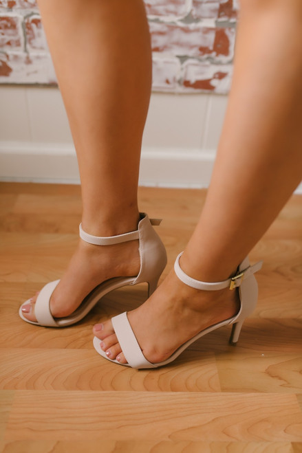 Champagne Toast Strappy High Heels - Nude