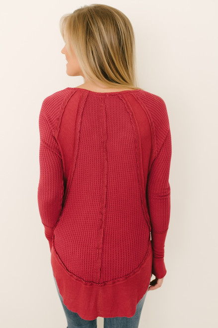 Free People Catalina Thermal Top - Red - FINAL SALE