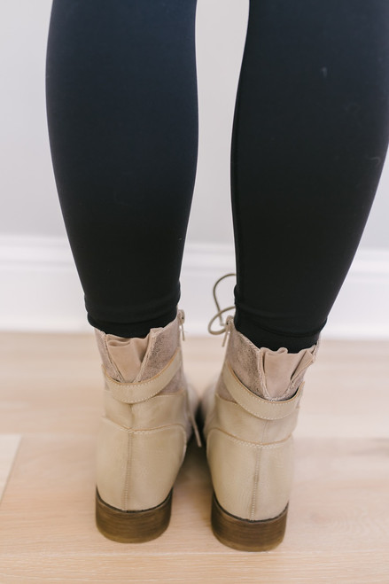 Dirty Laundry Tilley Combat Boots - Taupe - FINAL SALE