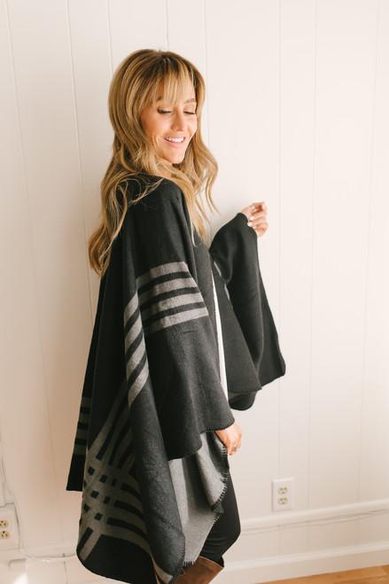 BB Dakota Roll with the Ponchos - Black/Grey  - FINAL SALE