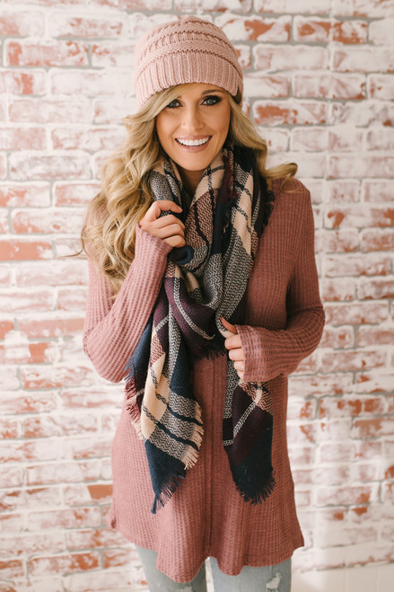 Only Exception Thermal Seam Detail Top - Mauve - FINAL SALE