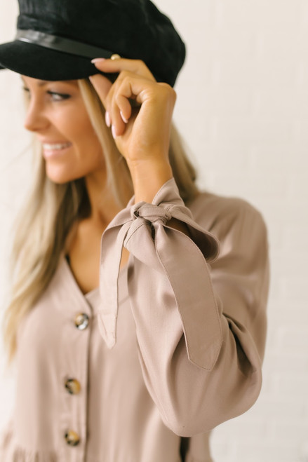 Emberly Button Down Tiered Babydoll Top - Latte - FINAL SALE