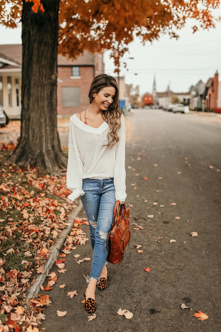 Free People South Side Thermal - Ivory - FINAL SALE