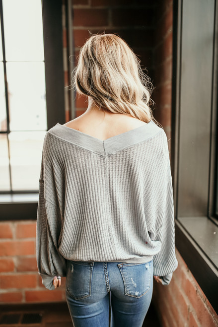 Free People South Side Thermal - Grey