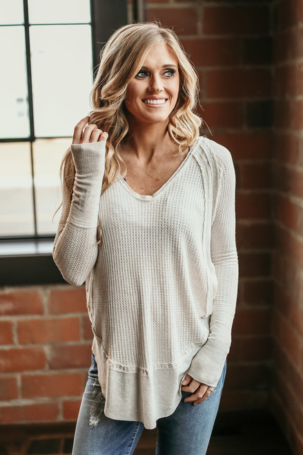 Free People Catalina Thermal Top - Sand - FINAL SALE