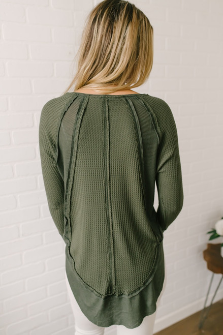 Free People Catalina Thermal Top - Moss - FINAL SALE