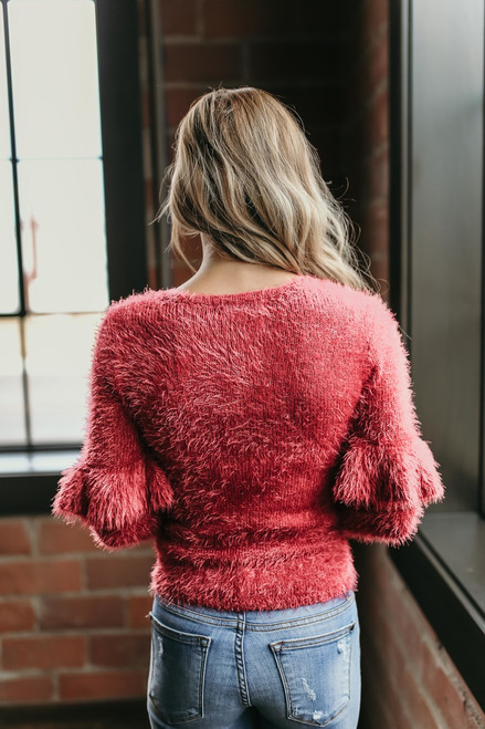Jack by BB Dakota Warm Fuzzy Feelings Sweater - Red - FINAL SALE