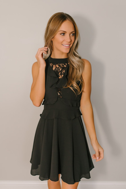 BB Dakota Crazy in Love Dress - Black  - FINAL SALE