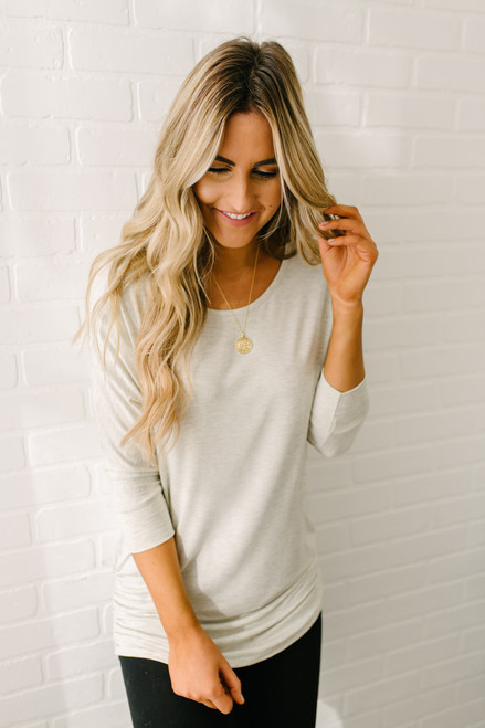 Signature Slouchy Dolman Top - Oatmeal - FINAL SALE