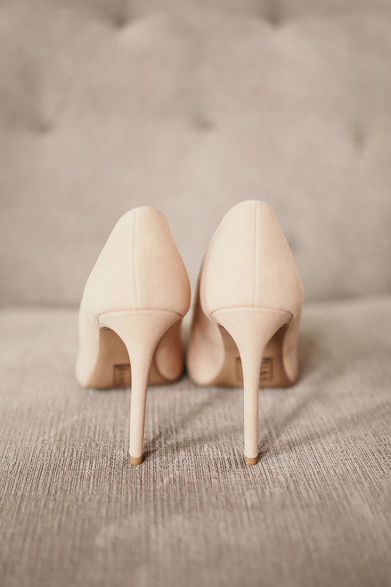 Grand Entrance Faux Nubuck Pumps - Light Blush