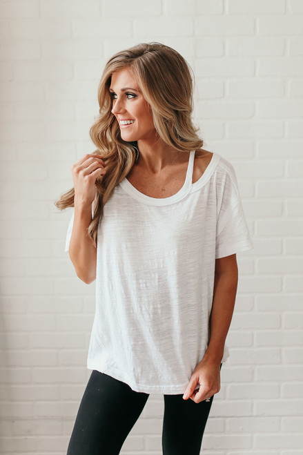 Free People Alex Tee - White - FINAL SALE