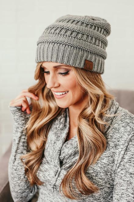 Knit Beanie - Ocean Grey - FINAL SALE