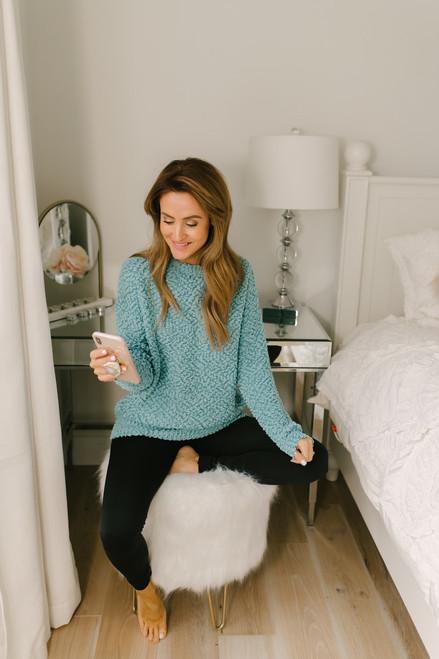 Latte Run Wubby Pullover -  Jade - FINAL SALE
