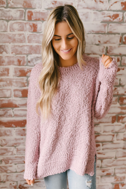 Northern Skies Wubby Pullover - Mauve - FINAL SALE
