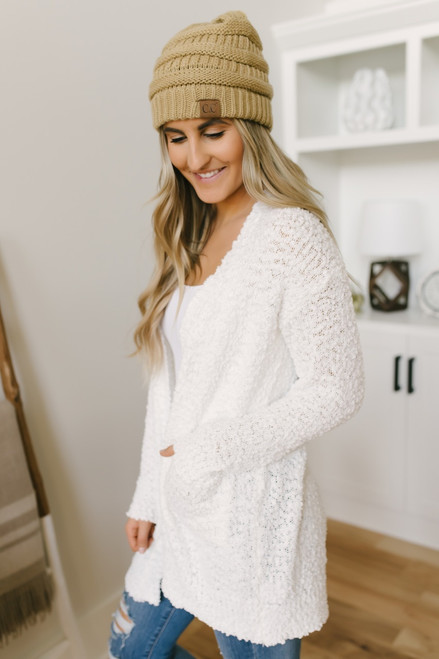 Sweet Splendor Wubby Pocket Cardigan - Ivory