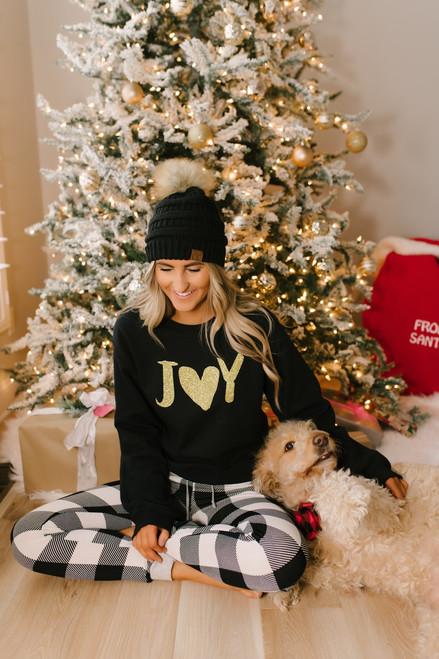 Joy Graphic Sweater - Black - FINAL SALE