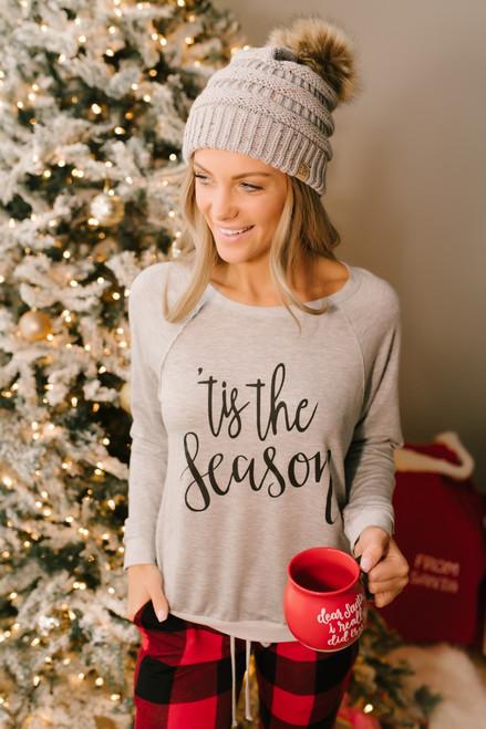 Tis the Season Pullover - Heather Grey - FINAL SALE