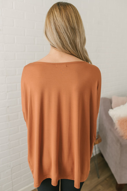 Solid Knit Piko - Caramel  - FINAL SALE