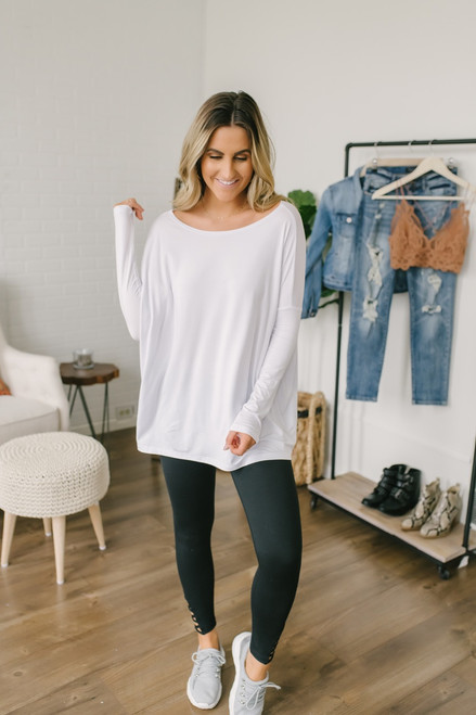 Solid Knit Piko - White - FINAL SALE