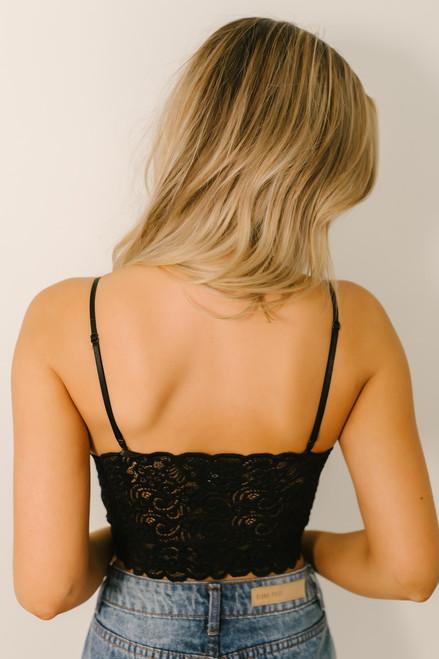 Scalloped Lace Brami - Black  - FINAL SALE