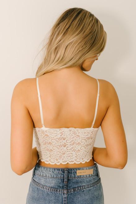 Scalloped Lace Brami - Ivory - FINAL SALE