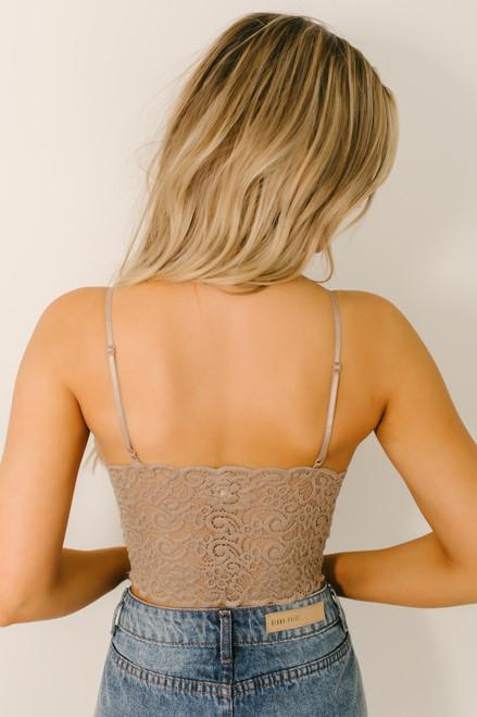 Scalloped Lace Brami - Cocoa  - FINAL SALE