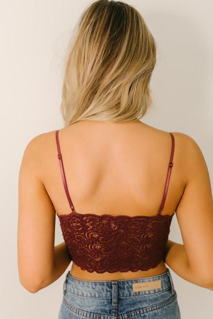 Scalloped Lace Brami - Burgundy - FINAL SALE