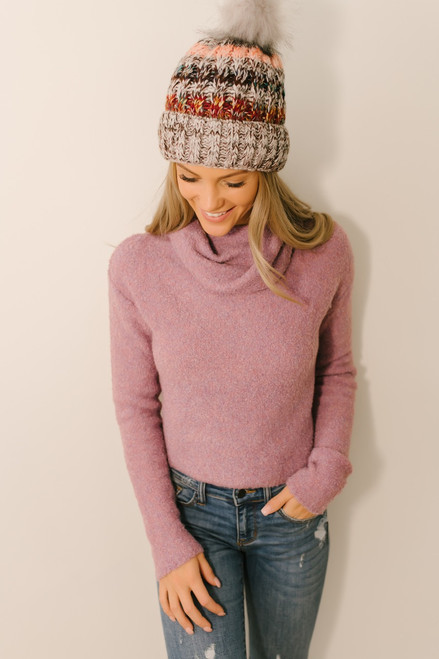 Free People Stormy Pullover - Lavender