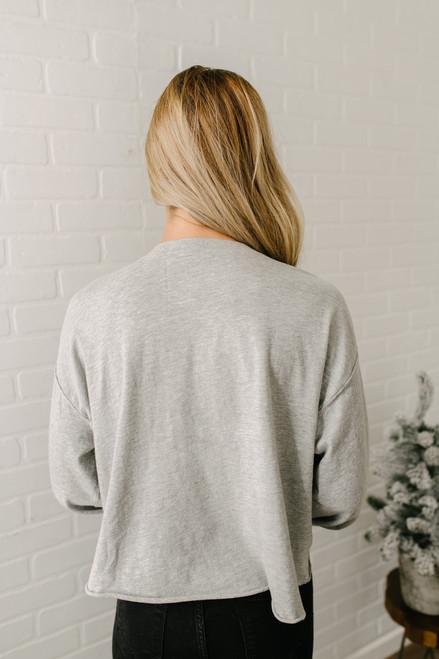 Free People Denver Long Sleeve Top - Grey - FINAL SALE