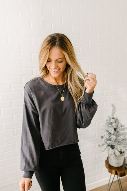 Free People Denver Long Sleeve Top - Black