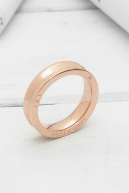 Brass & Unity Ring - Rose Gold - FINAL SALE