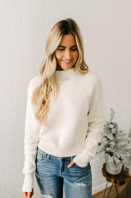 Free People Too Good Pullover - White
