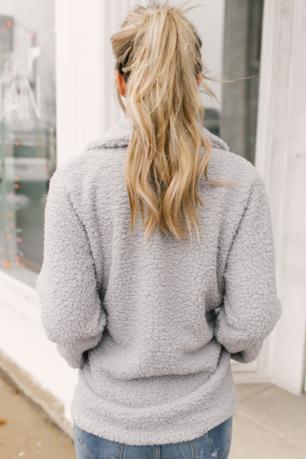 Fireside Cottage Soft Fleece Jacket - Grey  - FINAL SALE