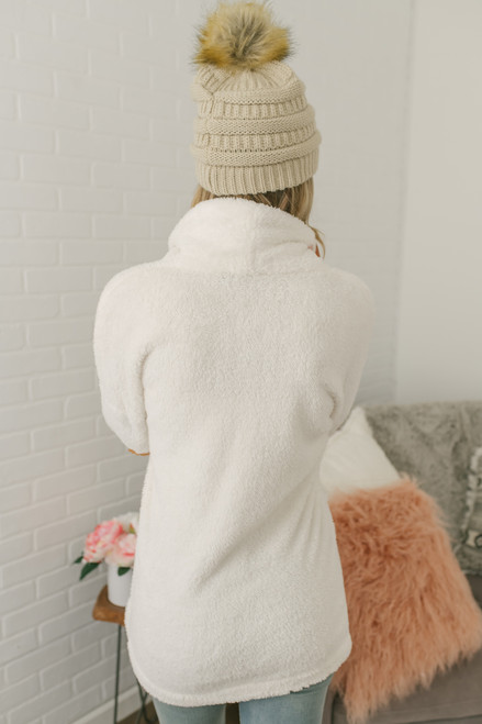Cozy in the City Elbow Patch Cardigan - Ivory  - FINAL SALE
