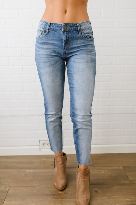 STS Blue Cara Raw Hem Straight Leg - Light Wash