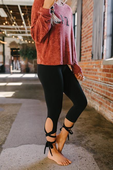 Nikibiki Ballerina Wrap Leggings - Black