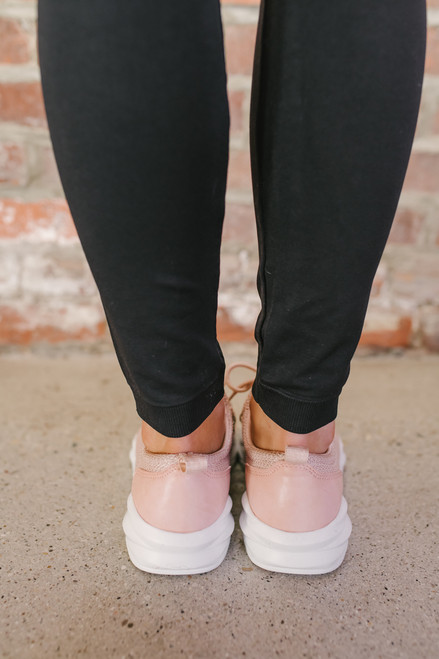 Ryder Low Top Lace Up Sneakers - Blush
