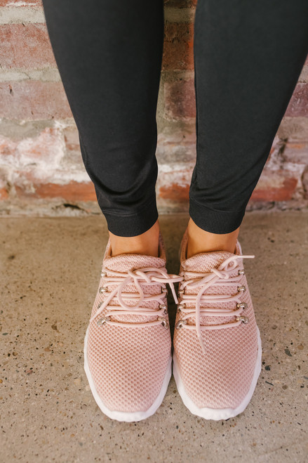 Ryder Low Top Lace Up Sneakers - Blush - FINAL SALE