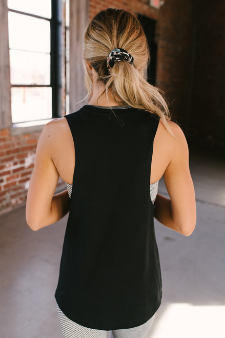 Resting Gym Face Graphic Muscle Tee - Black - FINAL SALE