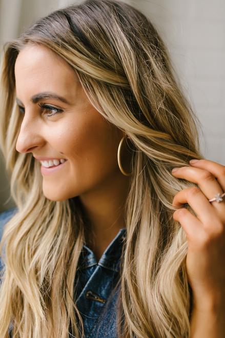 Hollywood & Vine Hoop Earrings - Gold