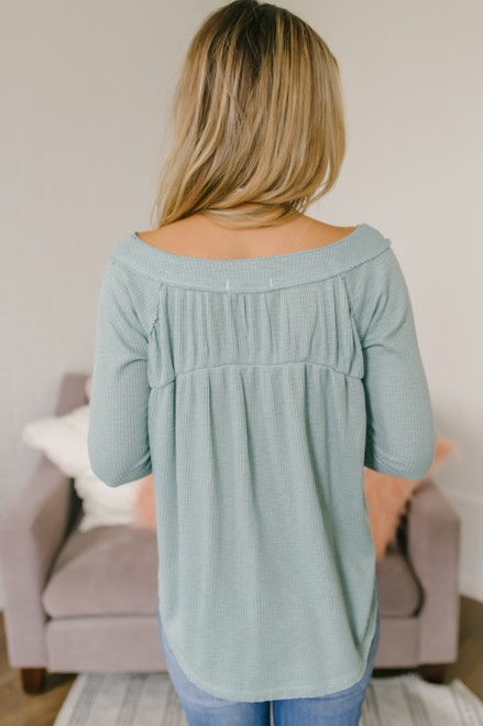 Free People Must Have Henley - Blue Green