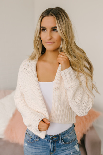 2ae4375080 Free People Glow For It Cardi - Ivory