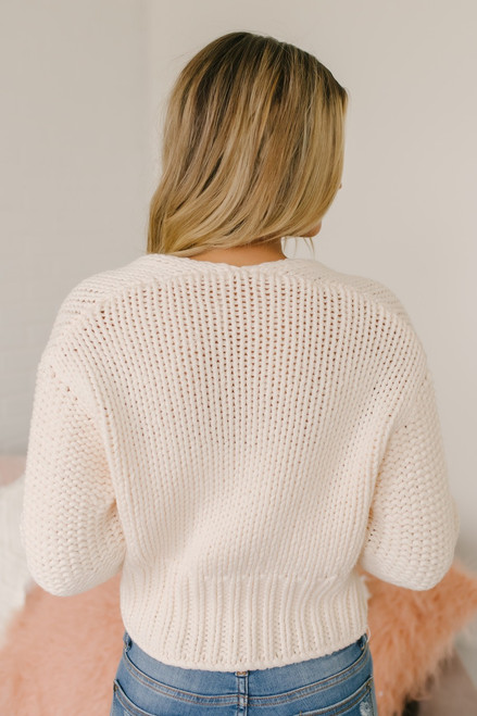 Free People Glow For It Cardi - Ivory