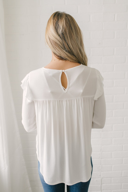 Jack by BB Dakota Fine & Fancy Top - Off White - FINAL SALE